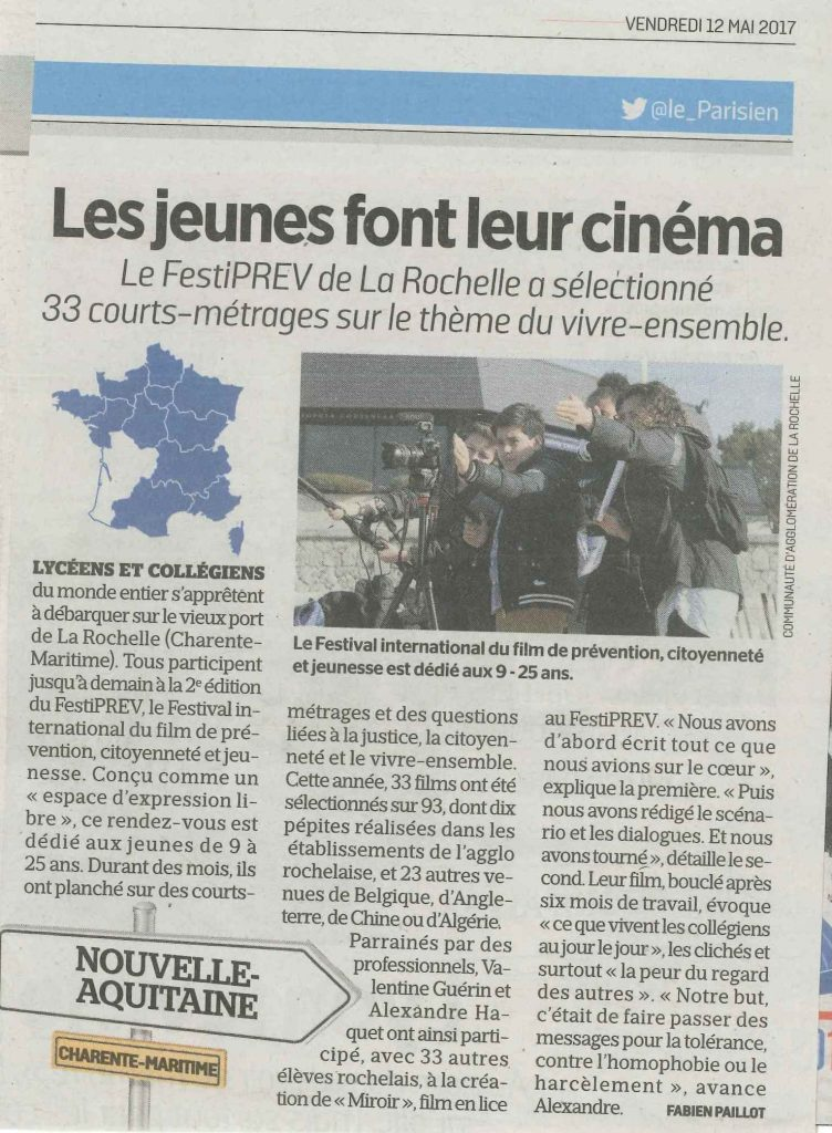 Article LE PARISIEN 12 Mai 2017