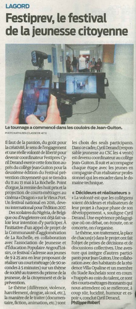 Article Sud Ouest 6 avril 2017