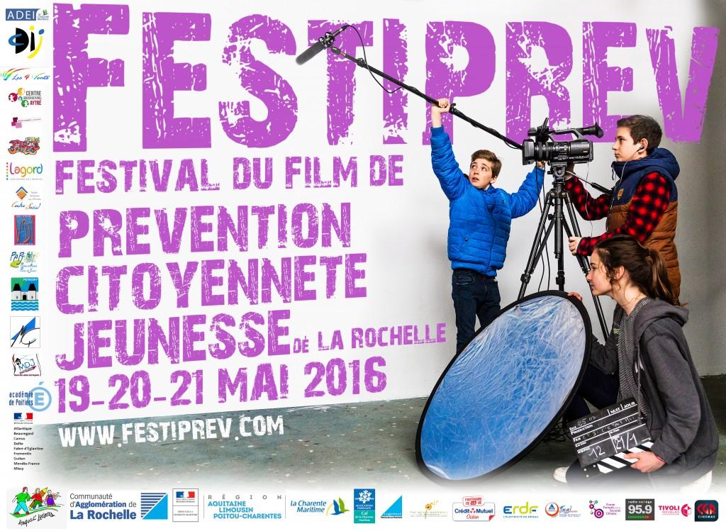 Affiche de la 1ère édition du Festival National du Film de Prévention et de Citoyenneté Jeunesse de La Rochelle